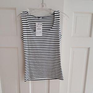 Zara cotton stretch striped tank NEW